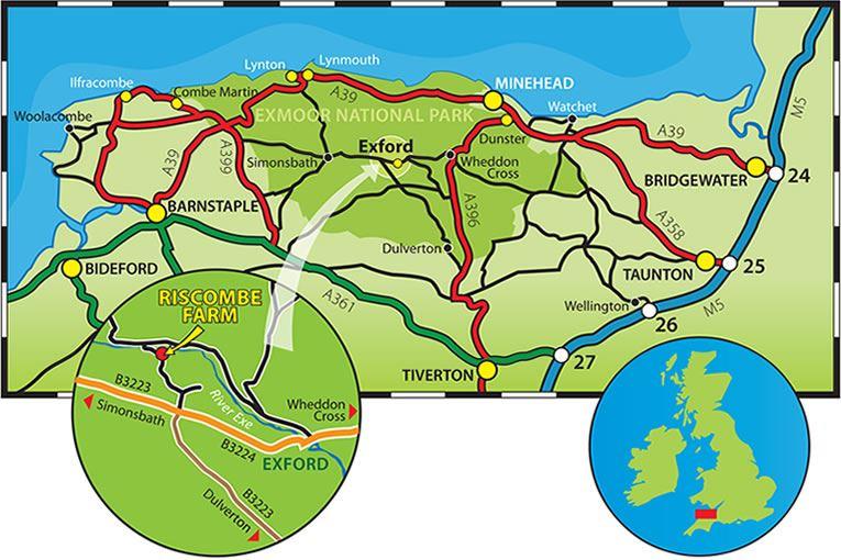 Riscombe Farm location map